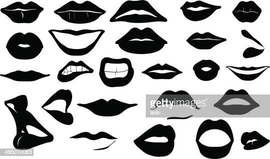 Lips Vector Black Lips Vector Art   Thin...