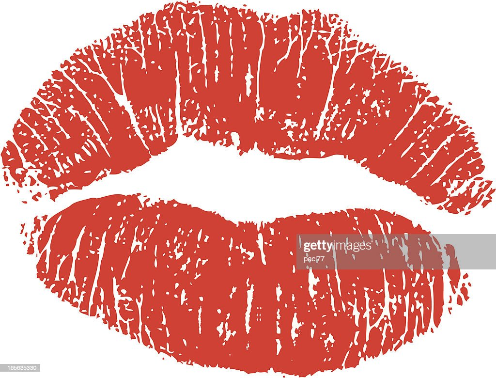Lipstick Kiss Vector Art | Getty Images