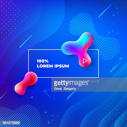 Liquid color background design. Fluid gradient shapes composition. Futuristic design posters. Eps10 vector. : Vector Art