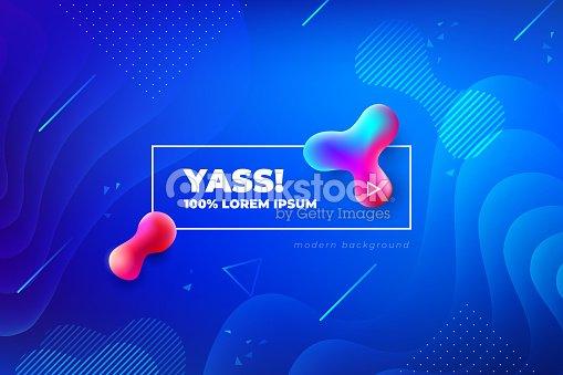 Liquid color background design. Fluid gradient shapes composition. Futuristic design posters. Eps10 vector. : stock vector
