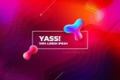 Liquid color background design. Fluid shapes composition. Futuristic design posters. Eps10 vector