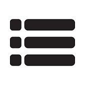 List icon on white background. flat style. List Symbol for your web site design, logo, app, UI. Content view options symbol. options sign.