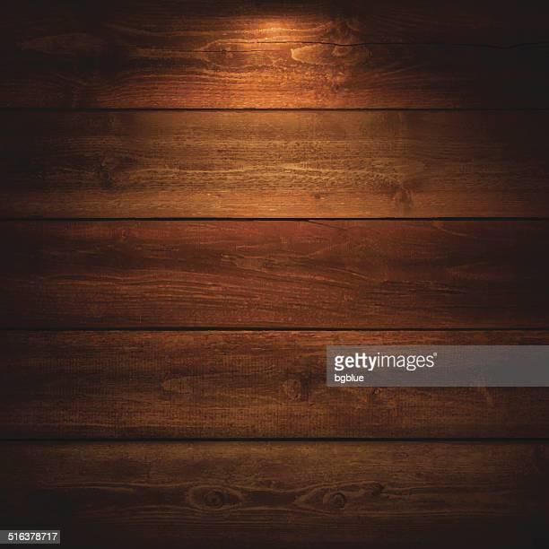 Éclairage fond en bois