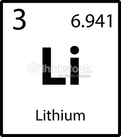 Lithium Periodic Table Element Icon On White Background Vector