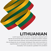Lithuanian, flag, country, culture, background, vector
