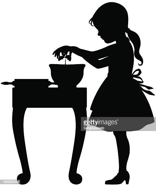 Kid Cooking Silhouette Stock Illustrations And Cartoons ...