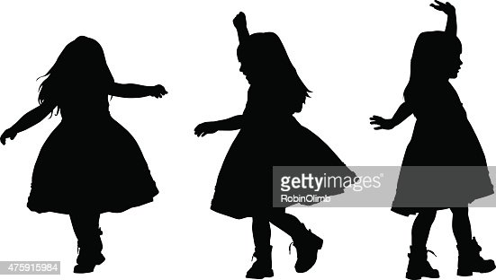 Little Girl Dancing Vector Art | Getty Images