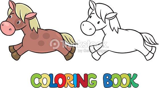 Caballo O Little Pony Libro Para Colorear Arte vectorial   Thinkstock