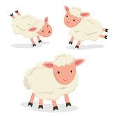Vector illustration of little lamb