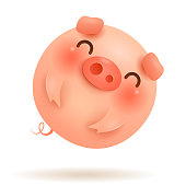Chinese zodiac: Pig - Symbol of the year 2019 on the Chinese calendar.