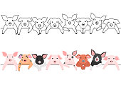 little pigs border set.