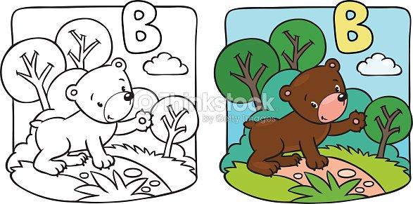 Little Osito De Peluche Libro Para Colorear Alfabeto B Arte ...