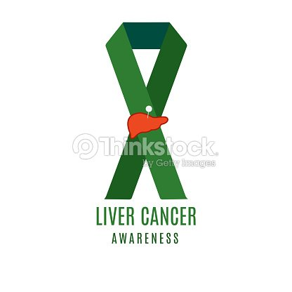 Liver Cancer Ribbon With A Needle Pin Vector Art Thinkstock