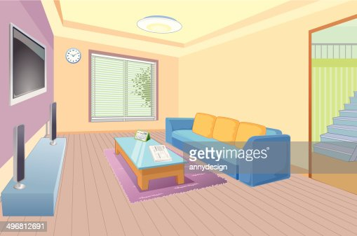 Living Room Vector. Interior Of The Living Room Vector Banner Design ...