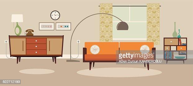 Bohemian Living Room Vector Art