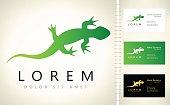 lizard symbol vector