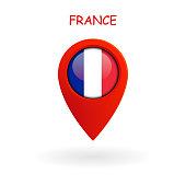 Location Icon for France Flag, Vector, Illustration, Eps File