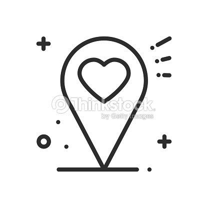 Icono De La Línea De Ubicación Mapa Pin Puntero Signo Y Símbolo ...