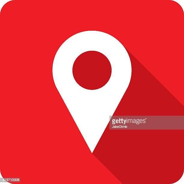 Location Marker Icon Silhouette