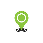 GPS location pointer pin icon vector. Map pointer icon vector design