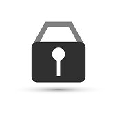 Lock Icon in trendy flat style isolated on white background. Security symbol for your web site design, logo, app, UI. Vector illustration, EPS10.