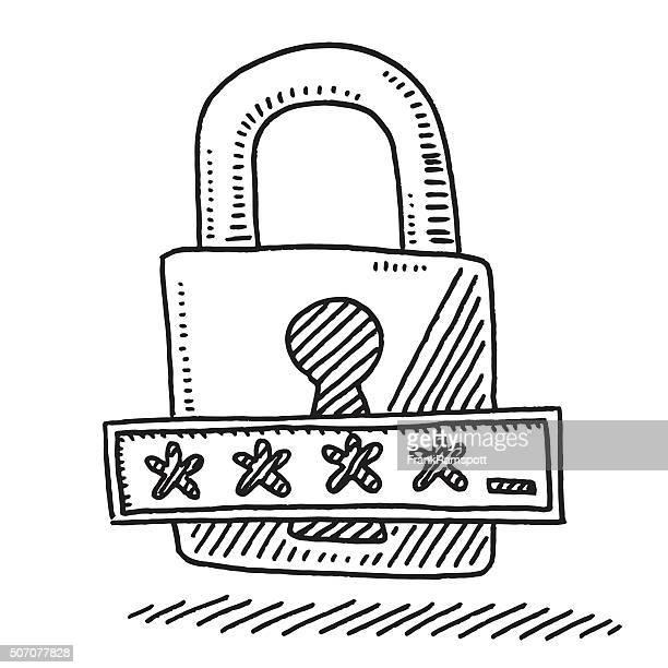 Lock Password Field Asterisk Symbol Drawing