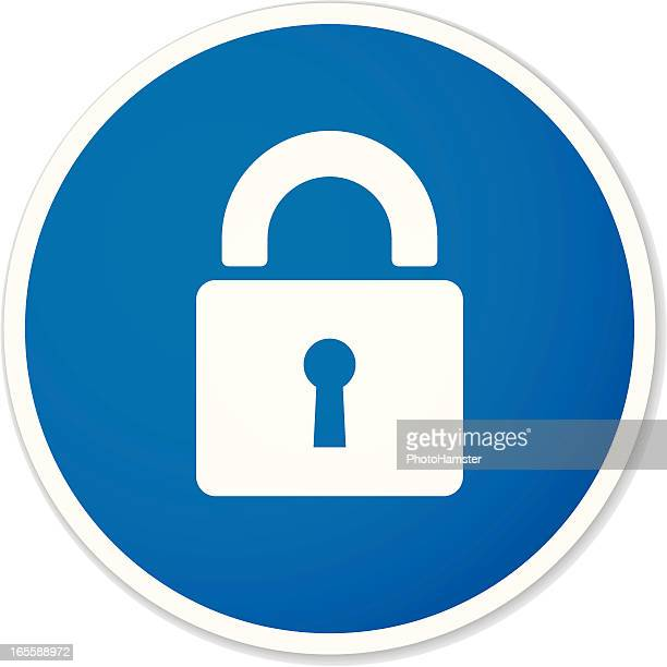 lock round sticker