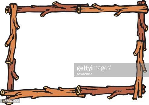 log frame vector art