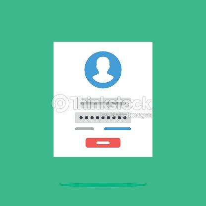 Login Form Icon Login Form Page Flat Design Vector Icon