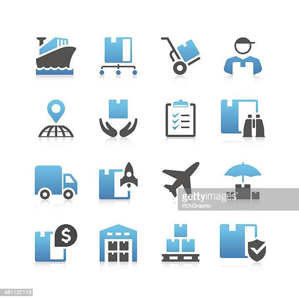 Logistic Icon Set | Concise Series