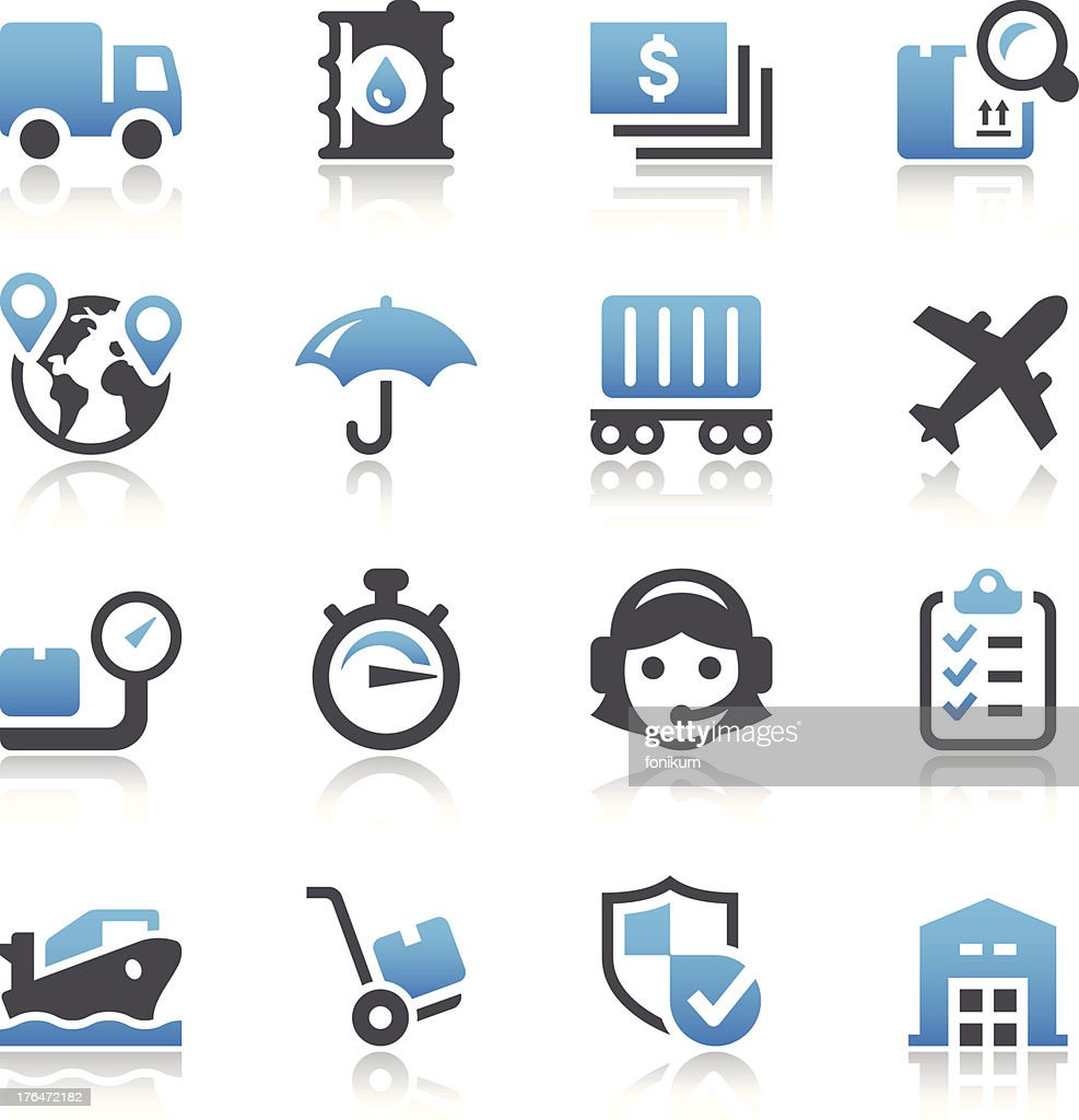 Logistic Icons : Vector Art