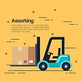 logistic service business icons vector illustration design