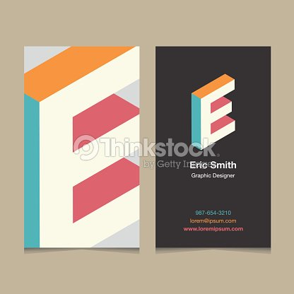 Logo alphabet letter e with business card template vector art logo alphabet letter e with business card template spiritdancerdesigns Choice Image