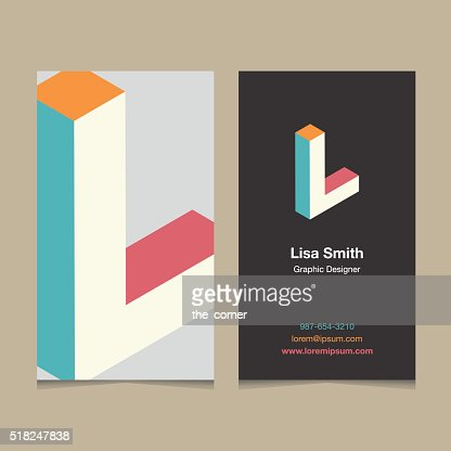 logo alphabet letter h with business card template l vector art