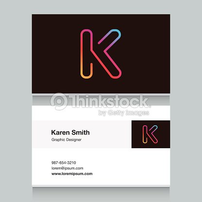 Logo alphabet letter k with business card template vector art logo alphabet letter k with business card template spiritdancerdesigns Images