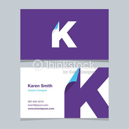 logo alphabet letter k with business card template