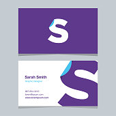 "Logo alphabet letter ""S"", with business card template. Vector graphic design elements for company logo."