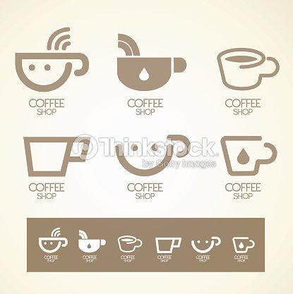 Diseo De Logotipo Y Smbolos De Caf Y Caf Concepto Arte Vectorial