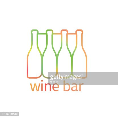 Logo design for bar with bottles : Vektorgrafik
