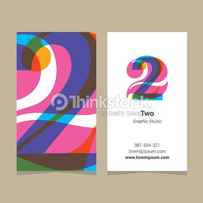 Logo number 2 with business card template arte vetorial thinkstock logo number 2 with business card template arte vetorial reheart Images