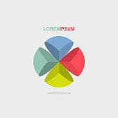logo sphere color segment. Vector illustration
