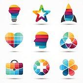 Modern vector creative abstract design symbol, sign