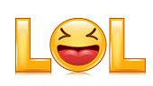 Lol Sign Vector. Fun Symbol. Emotion Smile. Facial Expression Illustration
