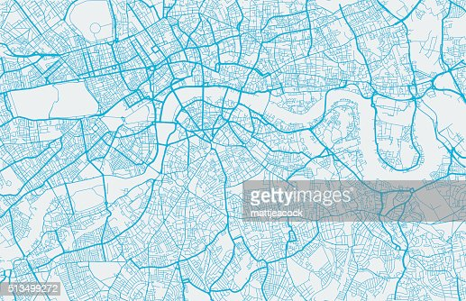 London City Map Vector Art – London City Map