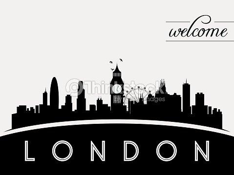 London Skyline Silhouette Vector Illustration Art