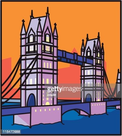 London Tower Bridge : Vector Art