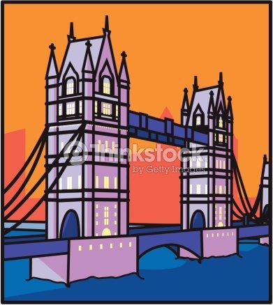 London Tower Bridge : stock vector
