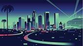 Vector  skyline of Los Angeles