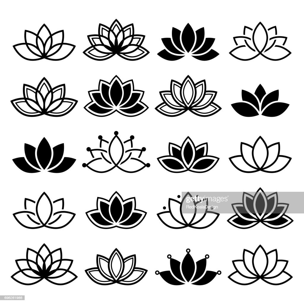 Vector Lotus Flower Abstract Pictures Picturesboss