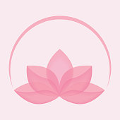 Lotus flower icon vector. Beauty logo concept. Yoga symbol illustration. EPS10 with transparency.